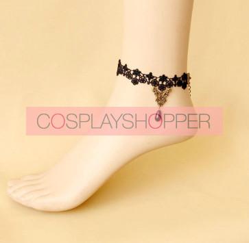 Gothic Black Lace Lady Lolita Ankle Belt
