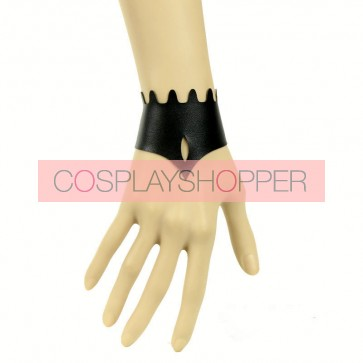 Gothic Black Leather Lady Lolita Wrist Strap
