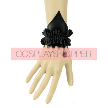 Gothic Black Leather Specail Lady Lolita Wrist Strap
