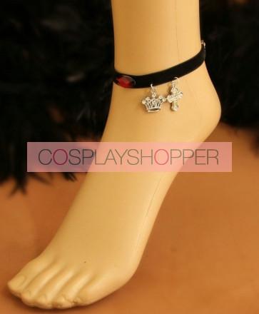 Gothic Crown Cross Handmade Lady Lolita Ankle Belt