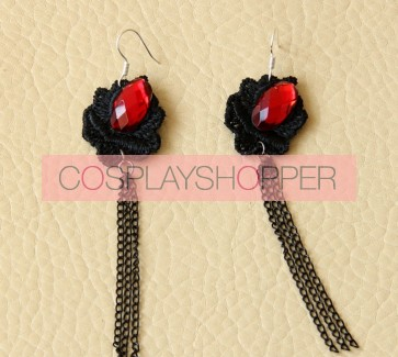 Gothic Floral Lady Lolita Earrings