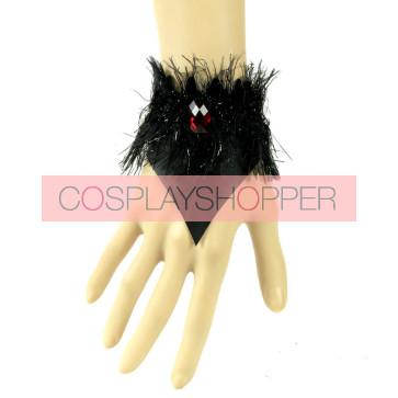 Gothic Leather Bead Lady Lolita Wrist Strap
