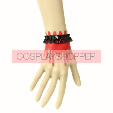 Gothic Leather Lace Lady Handmade Lolita Wrist Strap