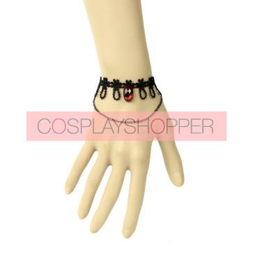 Gothic Vampire Lace Handmade Lady Lolita Wrist Strap