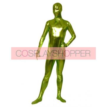 Grass Green Shiny Metallic Unisex Zentai Suit