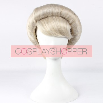 Gray 30cm Frozen Coronation Elsa Cosplay Wig