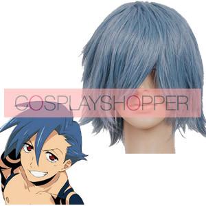 Gray Blue Gurren Lagann Kamina Cosplay Wig