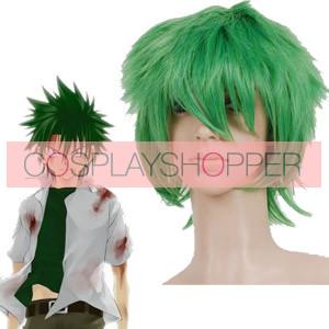 Green 32cm Law of Ueki Kosuke Ueki Nylon Cosplay Wig