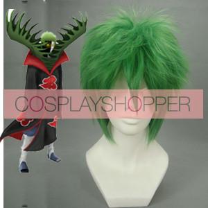 Green 32cm Naruto Zetsu Nylon Cosplay Wig