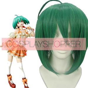 Green 35cm Macross Frontier Ranka Lee Cosplay Wig