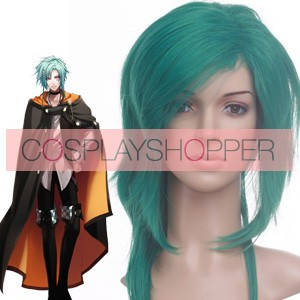 Green 40cm Wand of Fortune Alvaro Garay Cosplay Wig