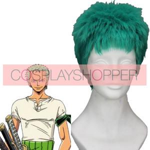 Green 5cm One Piece Roronoa Zoro Cosplay Wig