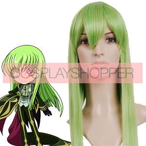 Green 80cm Code Geass-C.C. Nylon Cosplay Wig