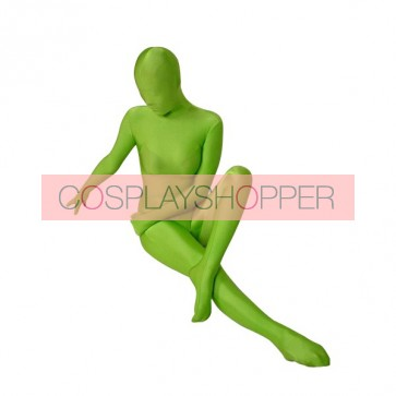 Green Full Body Lycra Spandex Unisex Zentai Suit