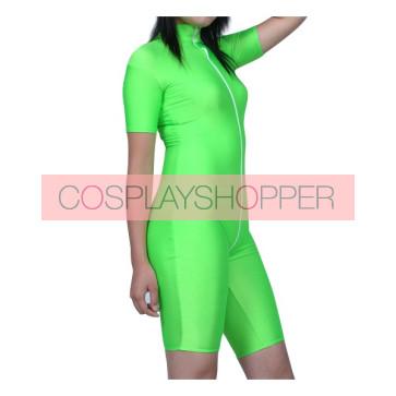 Green Half-Body Lycra Spandex Unisex Zentai Suit