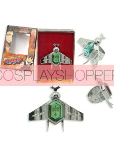 Green Katekyo Hitman Reborn Simon Family Ring Set