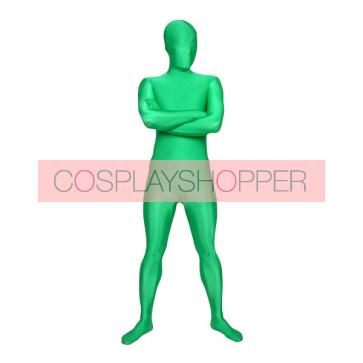 Green Unicolor Full-Body Lycra Spandex Zentai Suit
