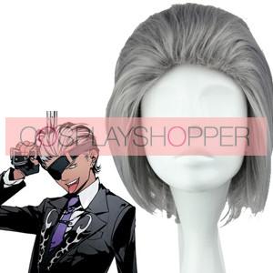 Grey 35cm Arcana Famiglia Debito Cosplay Wig