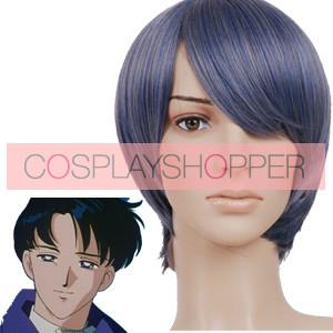 Grey Blue 32cm Sailor Moon Chiba Mamoru Cosplay Wig