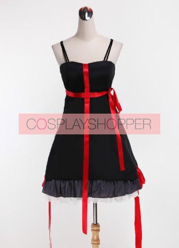 Guilty Crown Yuzuriha Inori Black Dress Cosplay Costume
