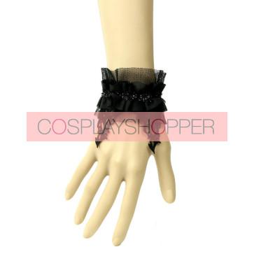 Handmade Black Lace Lady Lolita Wrist Strap
