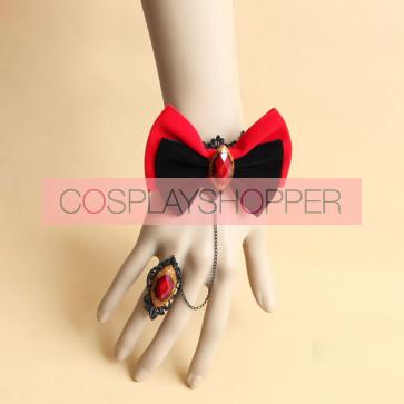 Handmade Charming Bow Girls Lolita Bracelet And Ring Set
