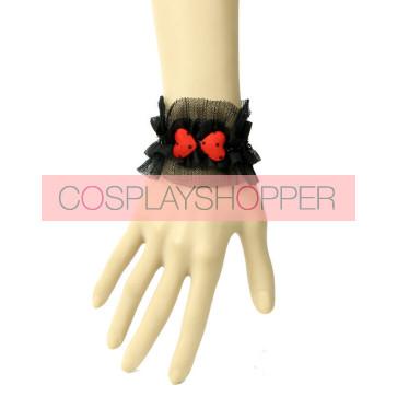 Handmade Cute Black Little Girls Lolita Wrist Strap