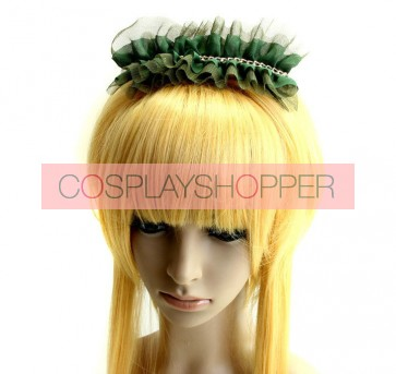 Handmade Dark Green Girls Lolita Hairpin