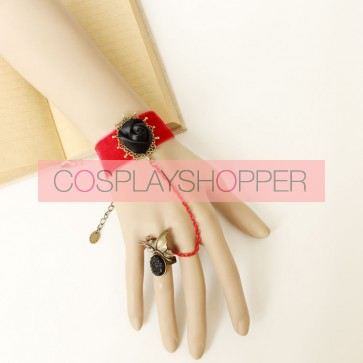 Handmade Gothic Rose Lady Lolita Bracelet And Ring Set
