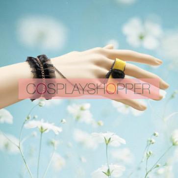 Handmade Modern Rose Girls Lolita Bracelet And Ring Set