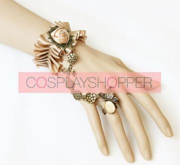 Handmade Victorian Style Rose Lolita Bracelet And Ring Set