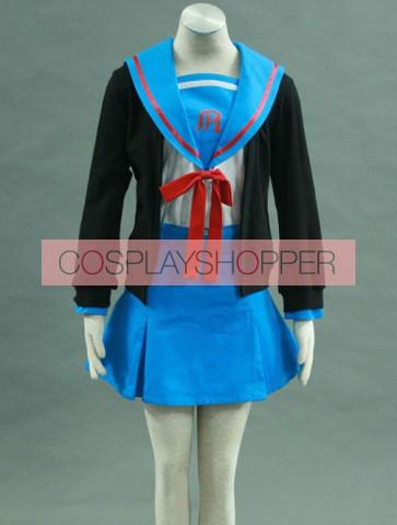 Haruhi Suzumiya Yuki Nagato Cosplay Costume
