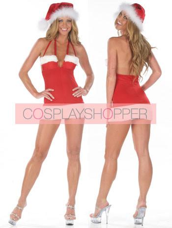 Hot Velvet Backless Christmas Mini Dress