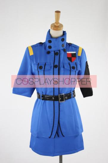 Hellsing Seras Victoria Cosplay Costume - Blue