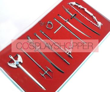 Katekyo Hitman Reborn Alloy Cosplay Weapon Set