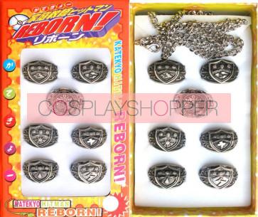 Katekyo Hitman Reborn Anime Ring Set