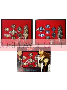 Katekyo Hitman Reborn Golden Alloy Anime Ring Set