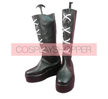 Katekyo Hitman Reborn Xanxus Black Cosplay Boots