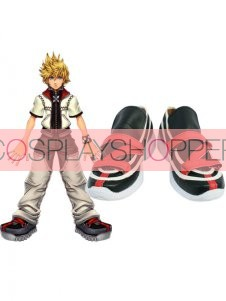 Kingdom Hearts II Roxaz Imitation Leather Cosplay Shoes
