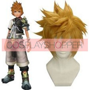 Golden 32cm Kingdom Hearts Birth by Sleep-Ventus Nylon Cosplay Wig