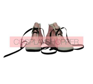 Pink Kingdom Hearts Kairi Imitation Leather Cosplay Shoes