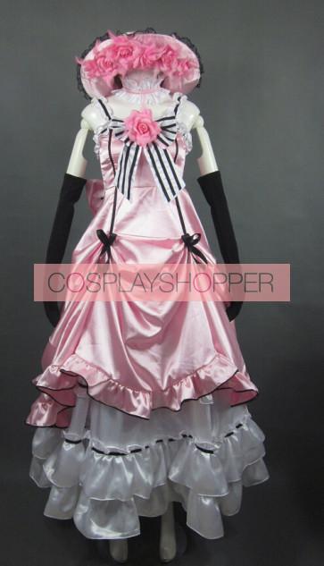 Kuroshitsuji Black Butler Pink Ciel Phantomhive Cosplay Costume Dress