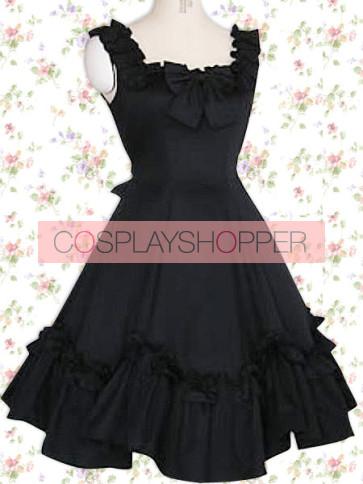 Black Sleeveless Bow Classic Lolita Dress