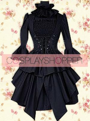 Black Long Sleeves Punk Lolita Dress