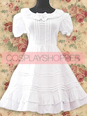 White Short Sleeves Sweet Lolita Dress