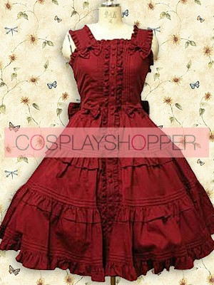 Red Sleeveless Ruffle Sweet Lolita Dress