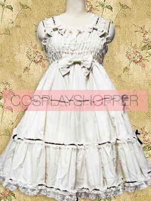 White Sleeveless Ruffle Sweet Lolita Dress
