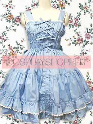 Blue Sleeveless Ruffle Sweet Lolita Dress