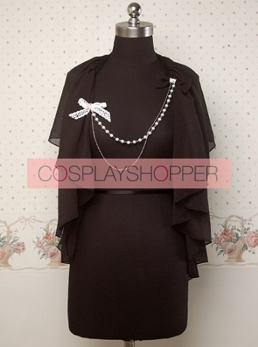 Chiffon Black Sweet Lolita Cape