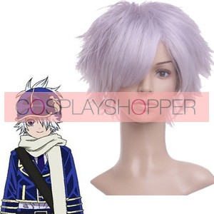 Lavender 32cm Letter Bee-Lag Seeing Nylon Cosplay Wig